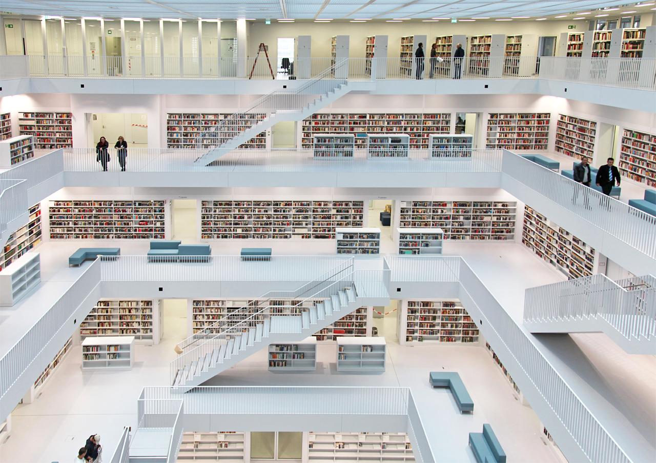 The new stuttgart city library germany totems for Interio stuttgart